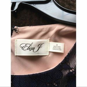 Eliza J Dresses - NWT Eliza J Navy Sleeveless Lace Dress